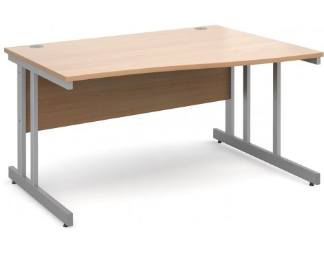DSK Momento 1400mm Right Hand Wave Desk - Beech
