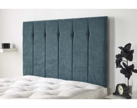 Aspire Furniture Portmoor Headboard in Katsuro Linen Fabric - Ocean - King 5ft