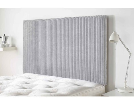 Aspire Furniture Lightmoor Headboard in Loumaire Corded Fabric - Silver - Double 4ft6