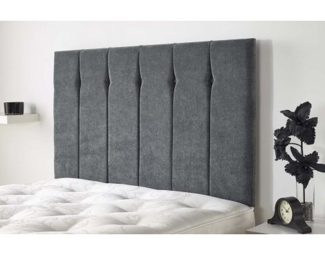 Aspire Furniture Portmoor Headboard in Katsuro Linen Fabric - Granite - Double 4ft6