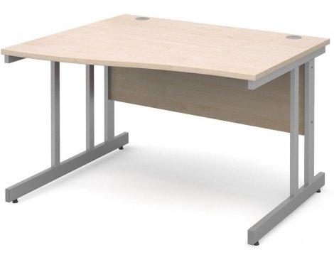 DSK Momento 1200mm Left Hand Wave Desk - Maple