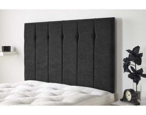 Aspire Furniture Portmoor Headboard in Katsuro Linen Fabric - Charcoal - King 5ft