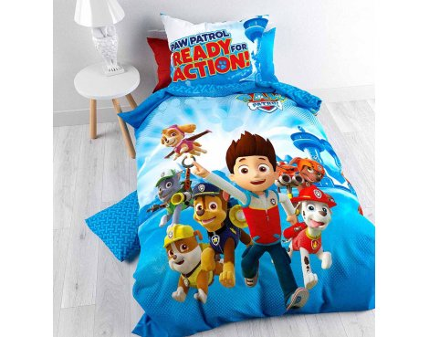 Nickelodeon Paw Petrol Action Duvet Cover Set For Kids - Multicoloured - Single 3ft