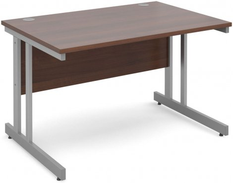 DSK Momento 1200mm Straight Desk with Cantilever Leg - Walnut