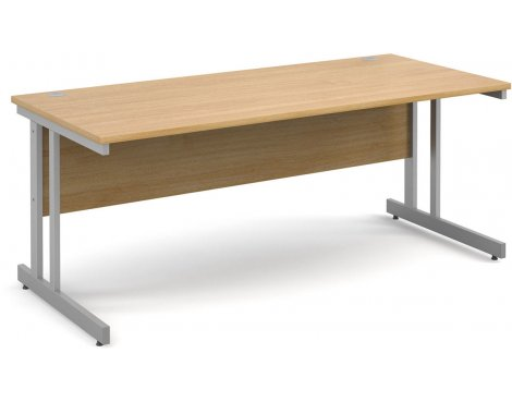 DSK Momento 1800mm Straight Desk - Light Oak