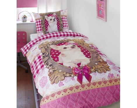 Dreamhouse Chihuahua Duvet Cover Set For Kids - Multicoloured - Single 3ft