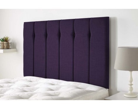 Aspire Furniture Amberley Headboard in Malham Weave Fabric - Purple - King 5ft