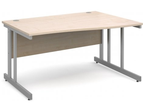 DSK Momento 1400mm Right Hand Wave Desk - Maple