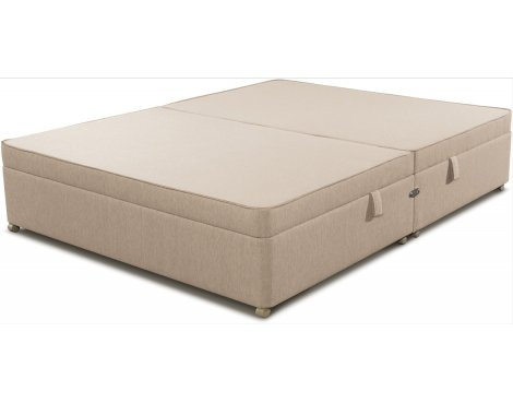 Sleepeezee Side Opening Ottoman Storage Divan Base - Marble - King 5ft