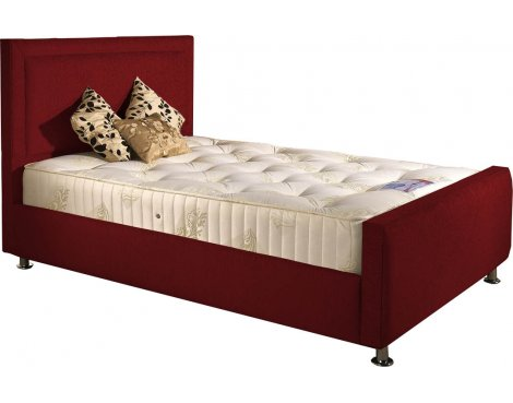 ValuFurniture Calverton Divan Bed & Mattress Set - Raspberry Chenille Fabric - Double - 4ft 6
