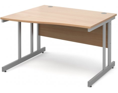 DSK Momento 1200mm Left Hand Wave Desk - Beech