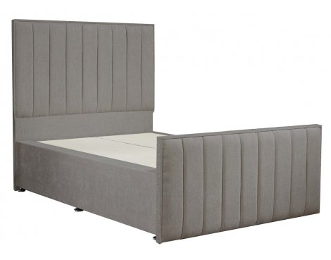 Luxan Hampstead Light Colours Bed Frame - Silver - Double 4ft6 - 2 Drawers