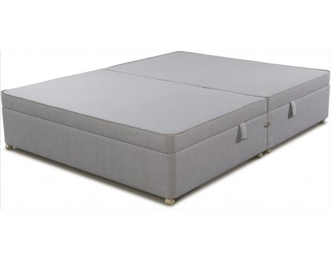 Sleepeezee Side Opening Ottoman Storage Divan Base - Slate - Single 3ft
