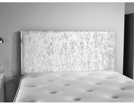 ValuFurniture Doll Velvet Fabric Headboard - Silver - Super King 6ft
