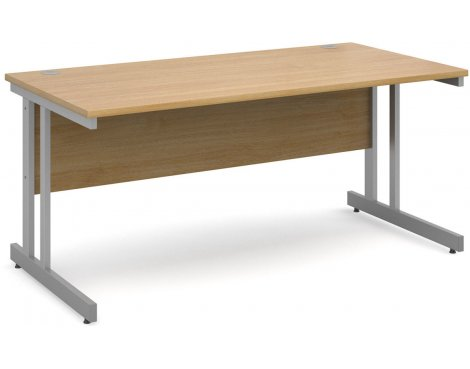 DSK Momento 1600mm Straight Desk - Light Oak