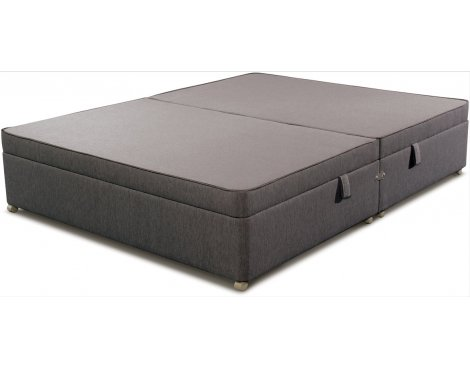 Sleepeezee Side Opening Ottoman Storage Divan Base - Charcoal - Single 3ft