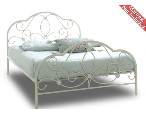 Sareer Alexis Metal Bed Frame - Small Double 4ft - White