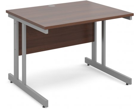 DSK Momento 1000mm Straight Desk - Walnut