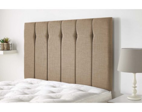 Aspire Furniture Amberley Headboard in Malham Weave Fabric - Honey - King 5ft