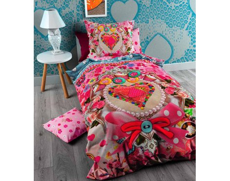 So Cute Sweet Strawberry Duvet Cover Cover For Kids - Multicolouored - Single 3ft