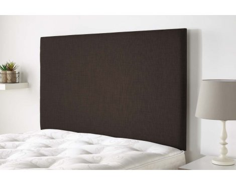 Aspire Furniture Derwent Headboard in Malham Weave Fabric - Brown - Super King 6ft