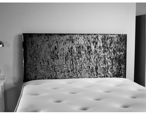 ValuFurniture Doll Velvet Fabric Headboard - Black - Double 4ft6