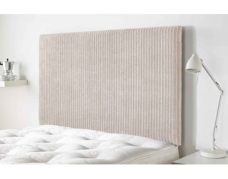 Aspire Furniture Lightmoor Headboard in Loumaire Corded Fabric - Beige - Double 4ft6