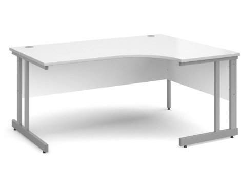 DSK Momento 1600mm Right Hand Ergonomic Desk - White