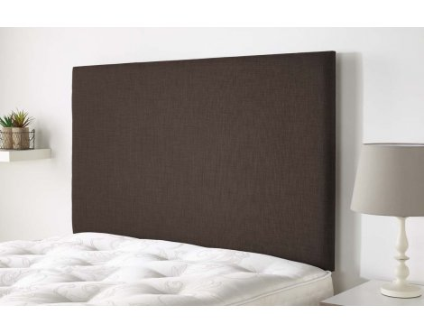 Aspire Furniture Derwent Headboard in Malham Weave Fabric - Coffee - Small Double 4ft