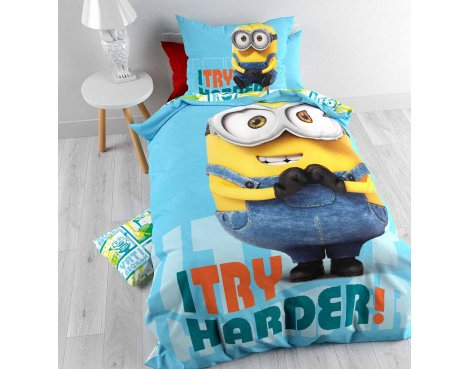Universal Minions Harder Duvet Cover Set For Kids - Multicoloured - Single 3ft