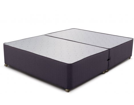 Sleepeezee Divan Base - No Drawer - Charcoal - King 5ft
