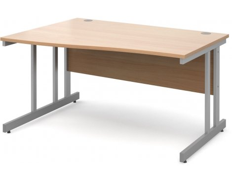 DSK Momento 1400mm Left Hand Wave Desk - Beech