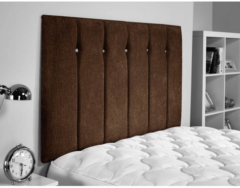 ValuFurniture Jubilee Chenille Fabric Headboard - Brown - Small Double 4ft