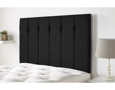 Aspire Furniture Amberley Headboard in Malham Weave Fabric - Ebony - Double 4ft6