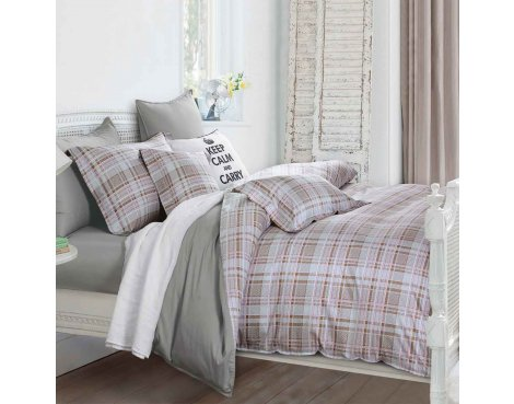 Primaviera Deluxe SL 51 Macy Duvet Cover Set - Beige - King 5ft
