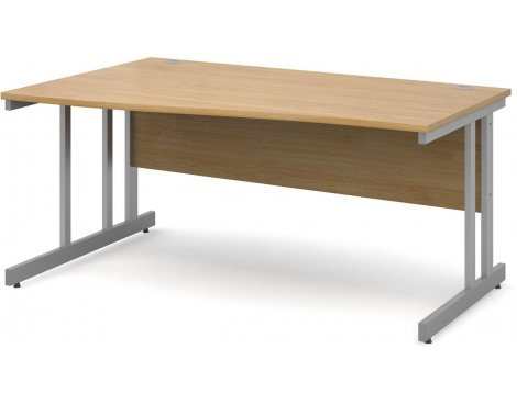 DSK Momento 1600mm Left Hand Wave Desk - Light Oak