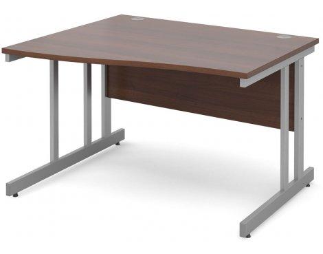 DSK Momento 1200mm Left Hand Wave Desk - Walnut
