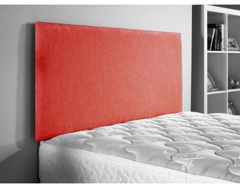 ValuFurniture Doll Chenille Fabric Headboard - Red - Super King 6ft