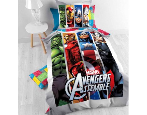 Disney Marvel Avengers Team Duvet Cover Set For Kids - Multicoloured - Single 3ft