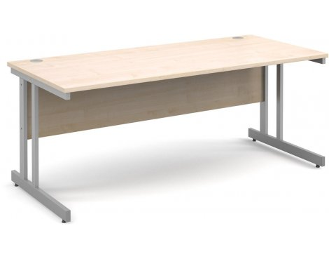 DSK Momento 1800mm Straight Desk - Maple