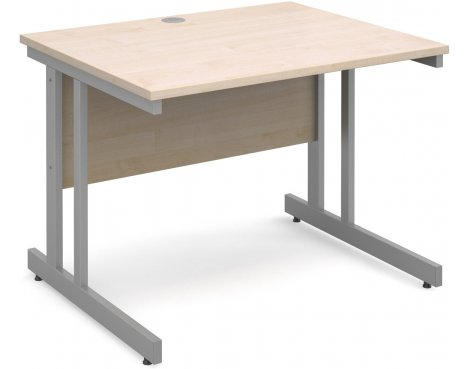 DSK Momento 1000mm Straight Desk - Maple