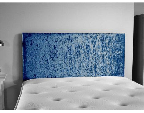 ValuFurniture Doll Velvet Fabric Headboard - Blue - Super King 6ft