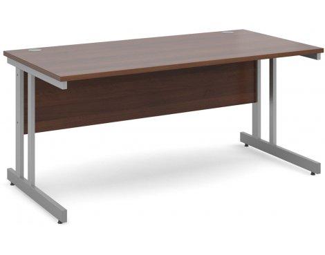 DSK Momento 1600mm Straight Desk - Walnut