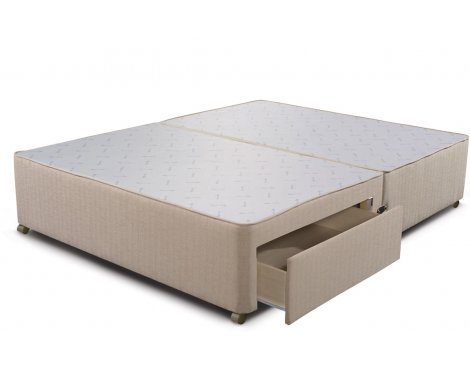 Sleepeezee Divan Base - 2 Drawer - Marble - Small Double 4ft