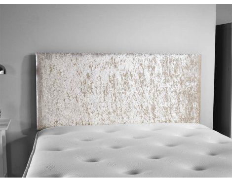 ValuFurniture Doll Velvet Fabric Headboard - Cream - Small Double 4ft
