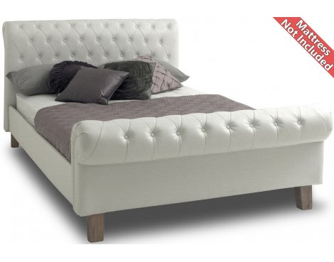 Sareer Richmond Faux Leather Bed Frame - King 5ft - White
