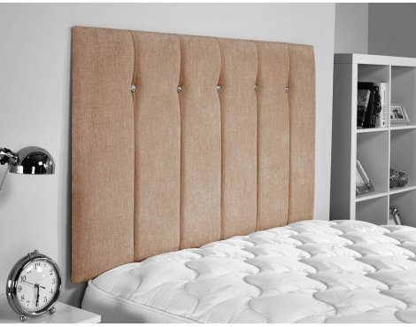 ValuFurniture Jubilee Chenille Fabric Headboard - Mink - Small Double 4ft