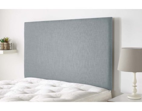 Aspire Furniture Derwent Headboard in Malham Weave Fabric - Sky - Super King 6ft