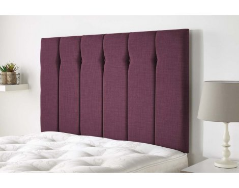 Aspire Furniture Amberley Headboard in Malham Weave Fabric - Fushcia - Double 4ft6