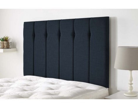 Aspire Furniture Amberley Headboard in Malham Weave Fabric - Midnight - Double 4ft6